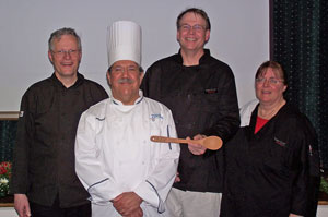 Pastor Elkin, Chef Ditchfield, Gary Weber, Bernadette Jones